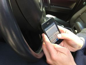 car accident texting